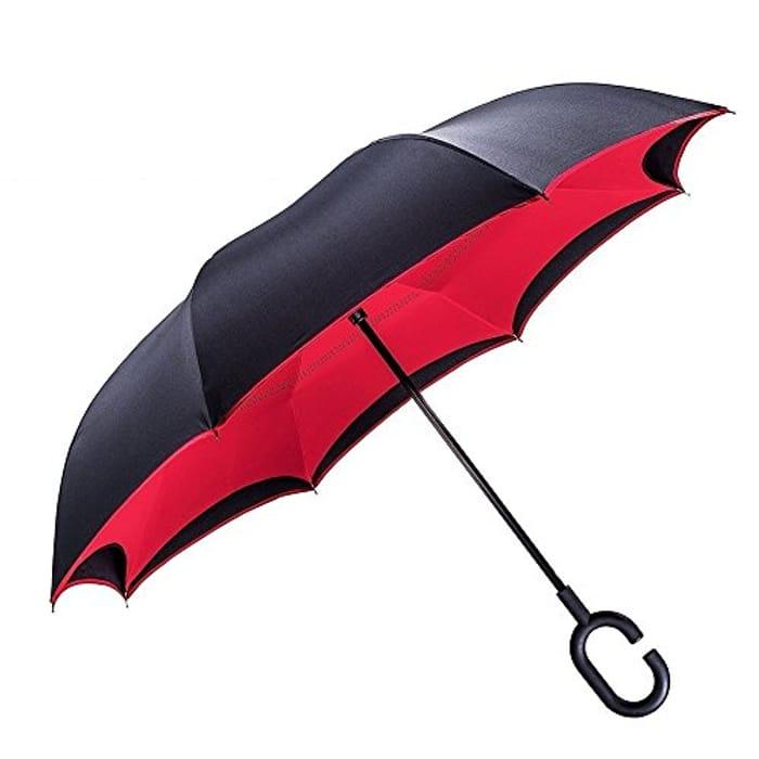 TOOGE Umbrella Inverted/Reversible, Long Windproof Umbrella