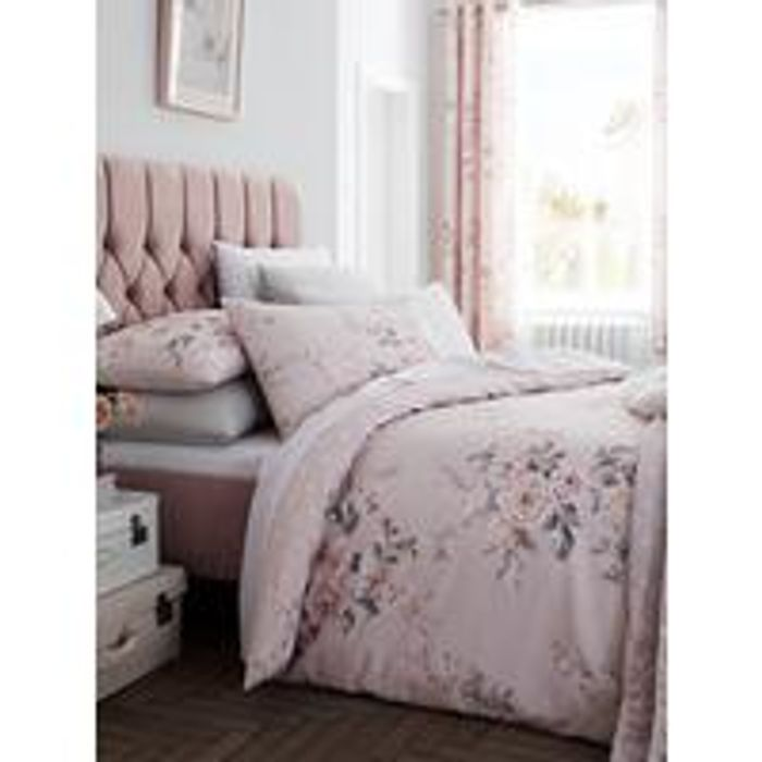 Catherine Lansfield Canterbury Glitter Duvet Cover Set