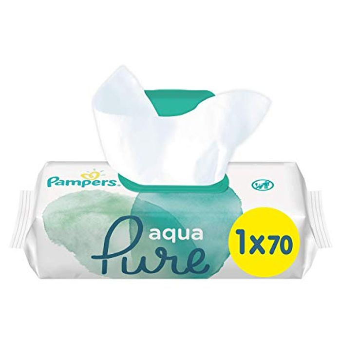 Special Offer - Pampers Baby Wipes Aqua Pure Made with 99 Percent Pure Water