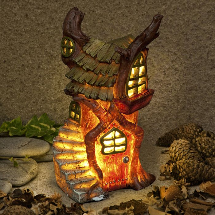Best Price! Garden Glow Illuminated Fairy House Solar Light (Plus Other Designs)