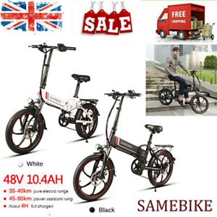 Samebike 20 INCH Electric Bicycle Ebike Citybike Mountain Bike 350W 48V 7 Speeds