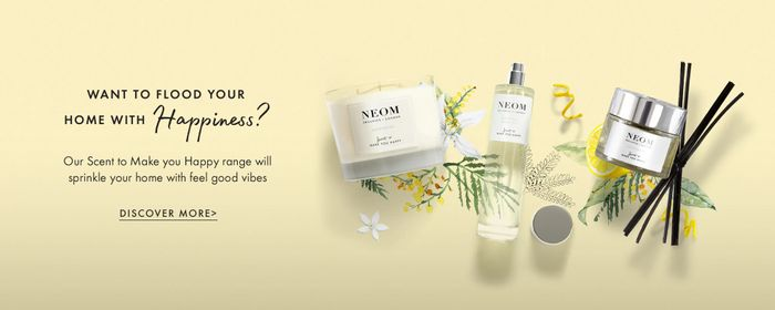 10% off First Order at NEOM with Newsletter Sign Up