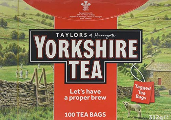 Yorkshire Tea 100 Tagged Tea Bags with 46% discount - Great buy!