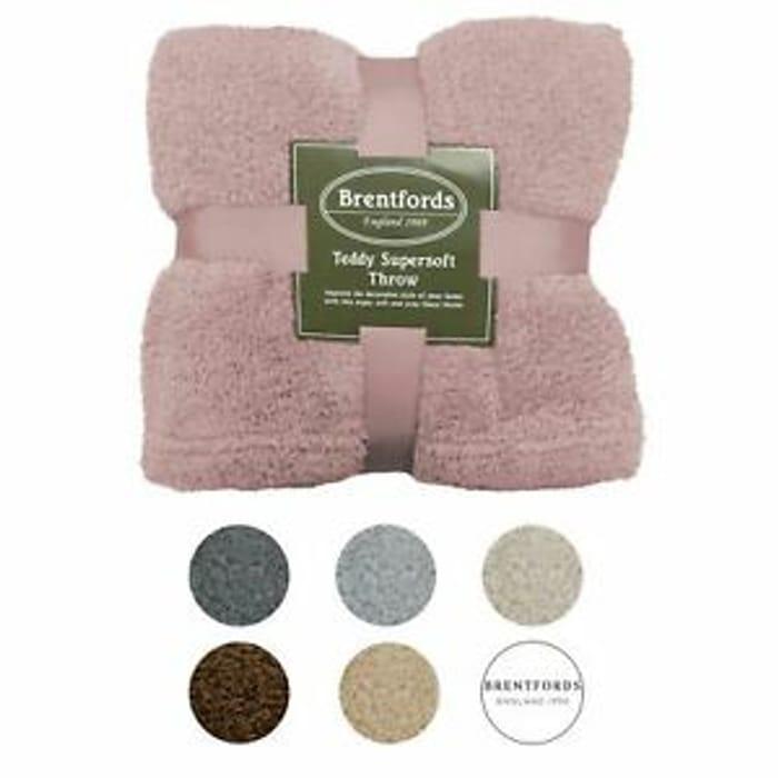 Cheap Brentfords Teddy Fleece Bear Blanket - Only £6.99!