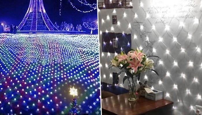96 LED Net Lighting - 2 Colours