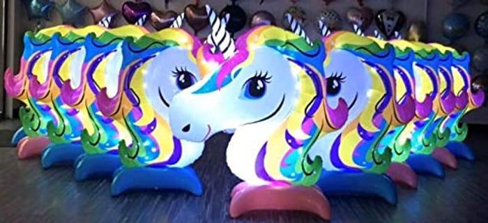 Pink Giant Rainbow Light Unicorn Balloon, Large Rainbow Unicorn Balloon