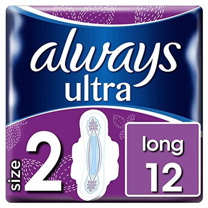 Always Ultra Long Sanitary Towels with Wings 12 Pads
