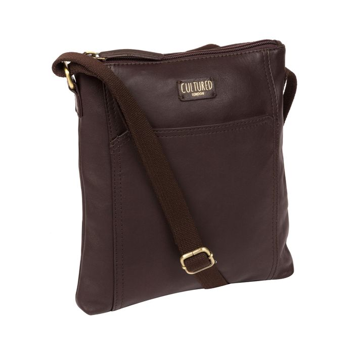 Cultured London - Brown 'Lucie' Leather Cross Body Bag