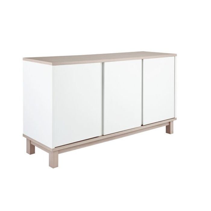 Home Essel 3 Door Sideboard - Two Tone - Save £24