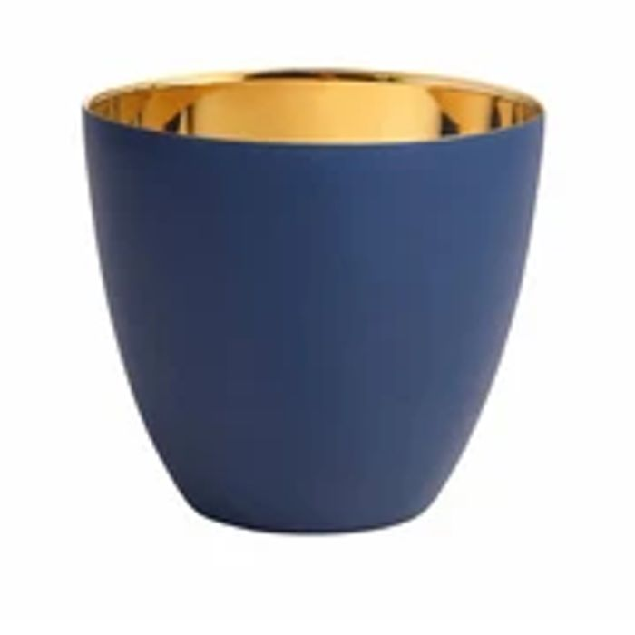 Navy & Gold Tealight Holder - Large