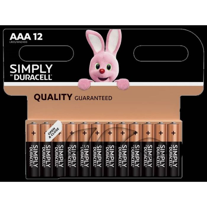 2 X Duracell AAA Batteries 12pk 24 in Total