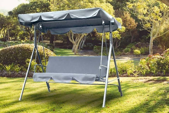 3-Seater Garden Swing Chair - 2 Colours!