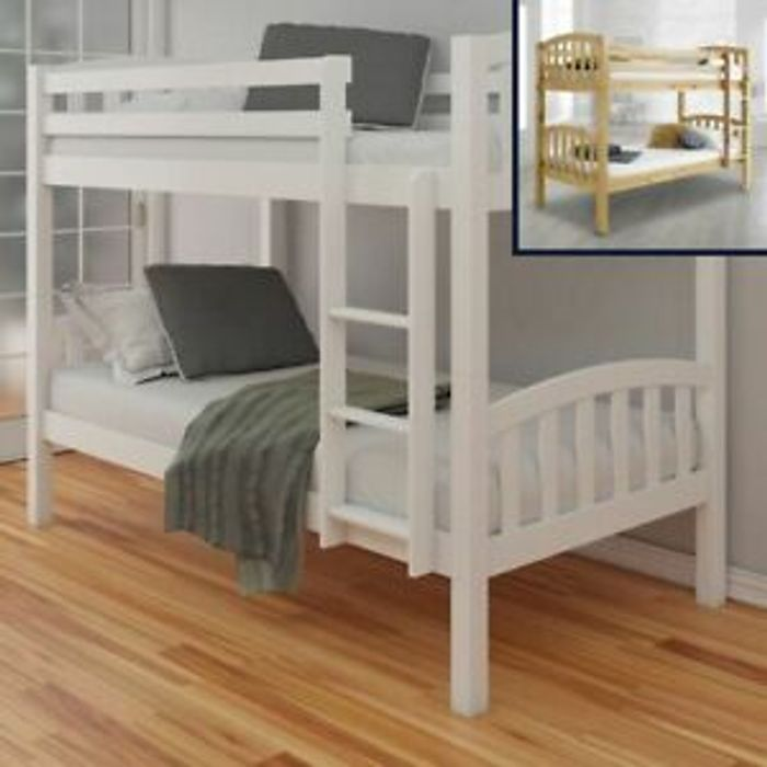 American Traditional Wood Bunk Bed 3ft Single Only £184.99