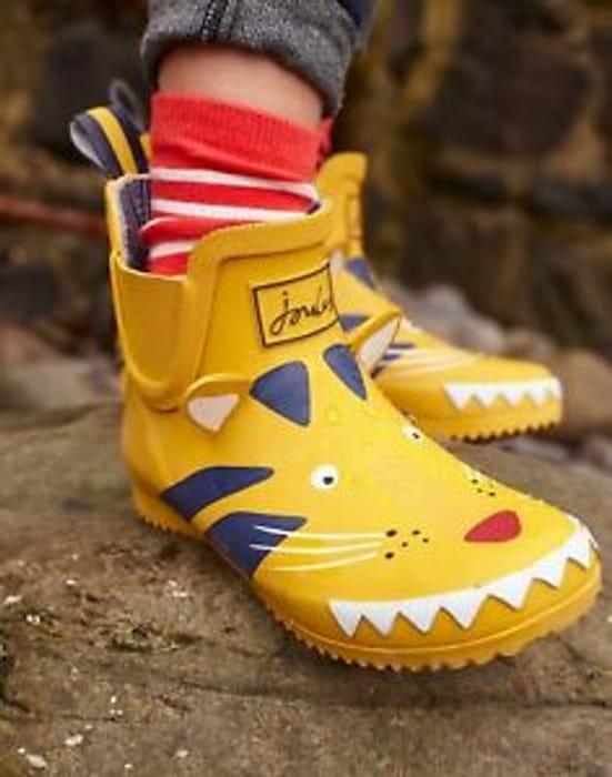 Cheap Joules Girls-Footwear Wellibob Short Height Wellies - YELLOW TIGER