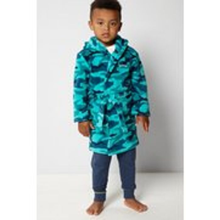 Embroidered Personalised Camo Green Supersoft Robe