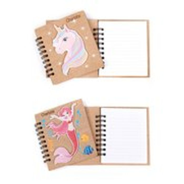 Cheap Personalised Mermaid and Unicorn Wooden Book Only £3.49!