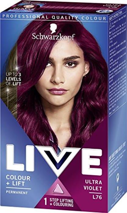 Schwarzkopf Live Colour+Lift Hair Dye 3x L76 Ultra Violet