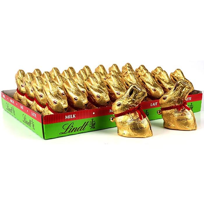32 X Lindt Gold Bunny 50g Milk Chocolates (Total 1.6kg)