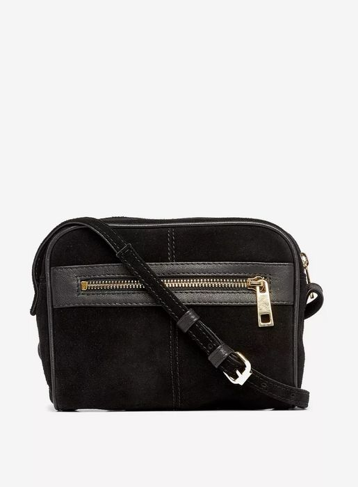 Black Leather Camera Cross Body Bag on Sale From £32 to £15