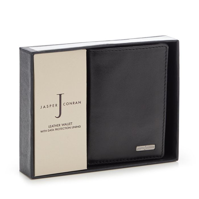 Best Price! J by Jasper Conran - Black Leather Data Protection Wallet