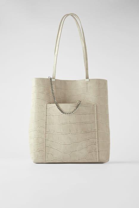 Zara Animal Print Tote Bag - 1/2 Price