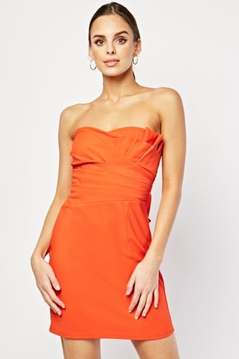 Bow Bandeau Dress - for £1! (5 Colours)