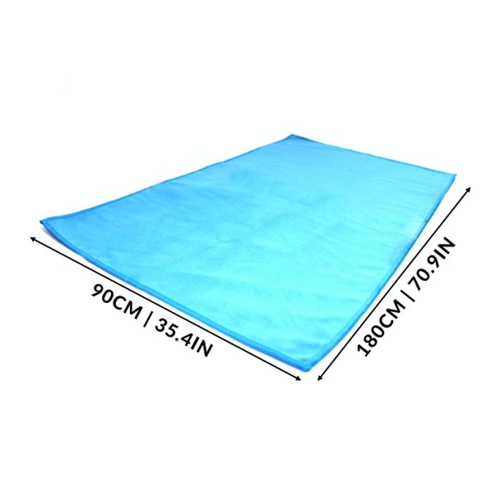 Best Price! Quick Drying Microfiber Towel | Pukkr Blue Large (90x180cm)