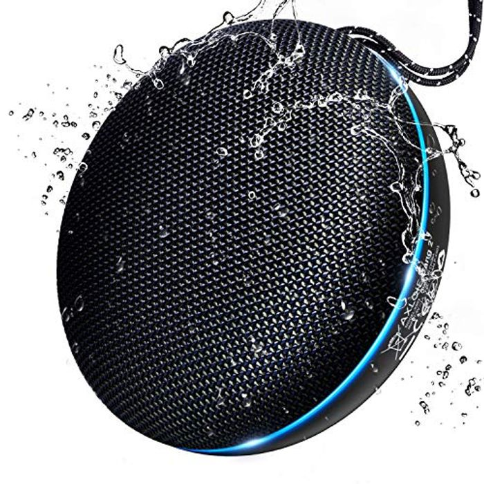 Axloie Portable Bluetooth Speaker, IPX6 Waterproof Bluetooth 5.0 for Only £9.99