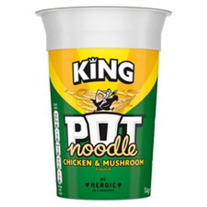 Pot Noodle King Chicken & Mushroom 114G (All Flavours)