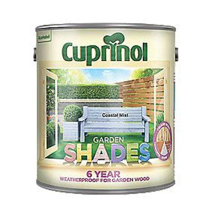 Cuprinol Garden Shades Wood Paint Matt Coastal Mist 2.5ltr
