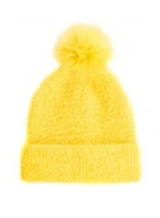 Quiz Yellow Brushed Pom Pom Hat on Sale From £20 to £2.99