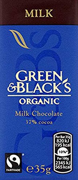 Green & Blacks Milk Chocolate Bar