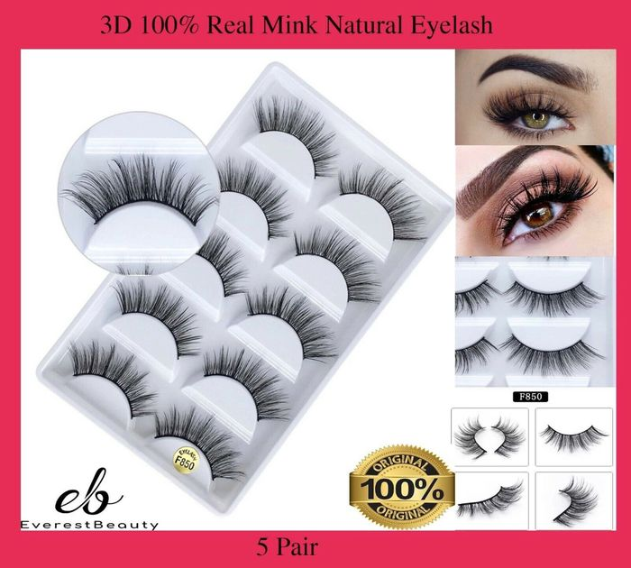 5 Pairs of 3D False Lashes £3.98 Delivered