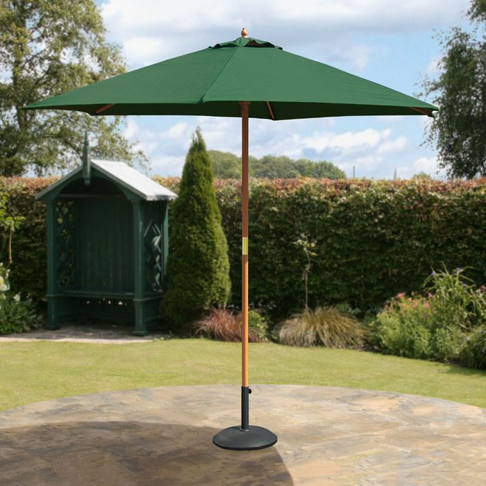 Sale! 2.7m Hardwood Green Market Parasol (Base Not Included*)