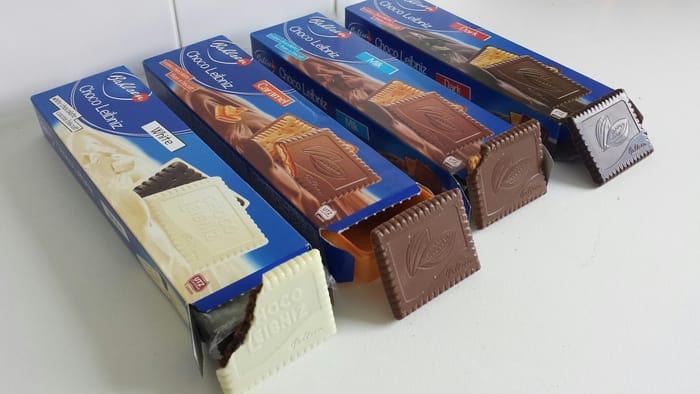 Bahlsen Leibniz Biscuits 125g (Dark Chocolate,White Choco,Milk,Chocolate Orange)