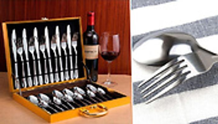 *SAVE £40* 24-Pieces Stainless Steel Cutlery Set