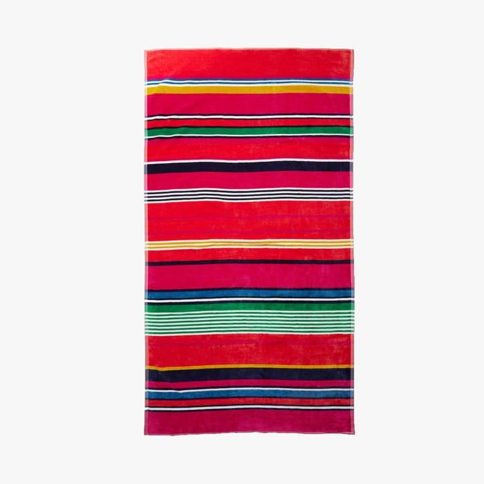 CHEAP! Debenhams-Multicoloured Striped Cotton Beach Towel