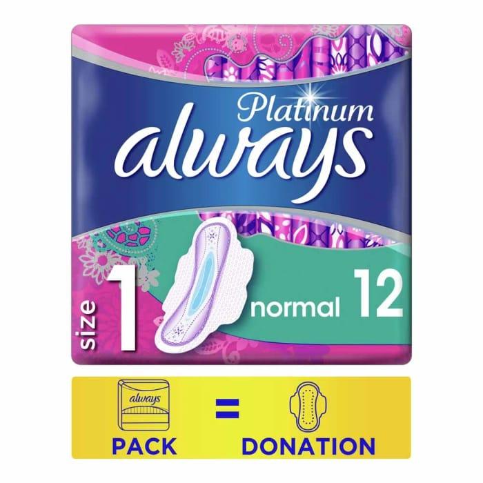 Always Platinum Pads Normal plus 12 Pack