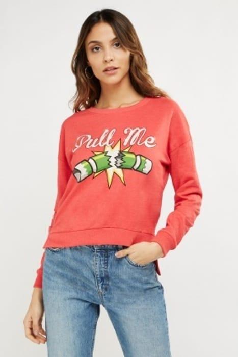 Graphic Front Sweatshirt HALF PRICE