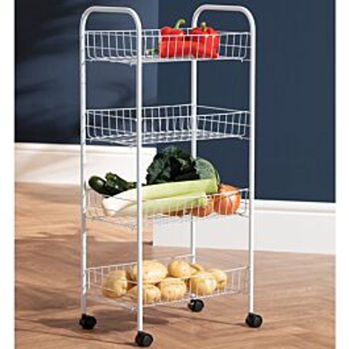 Robert Dyas 4 Tier Wire Kitchen Trolley