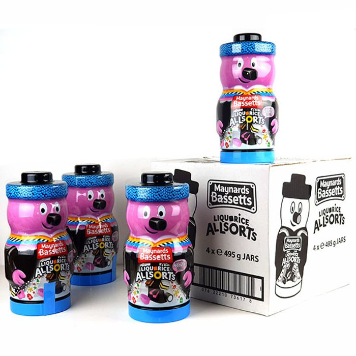 4x Maynard's Liquorice Alsorts in Collectable Jars