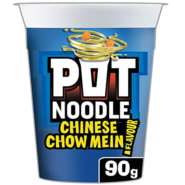 Pot Noodle Chow Mein Standard 90 G, Pack of 12