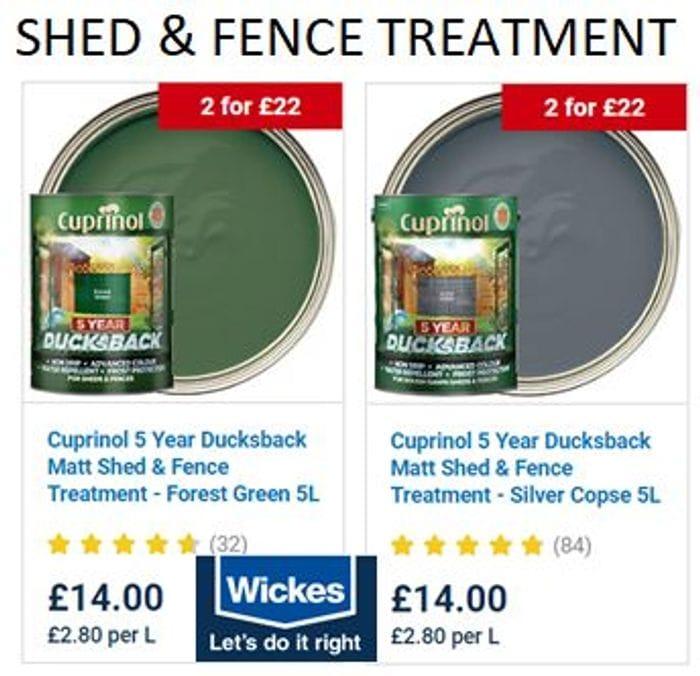 Best Price! Cuprinol Ducksback Exterior Wood Treatment 5L for Sheds & Fences