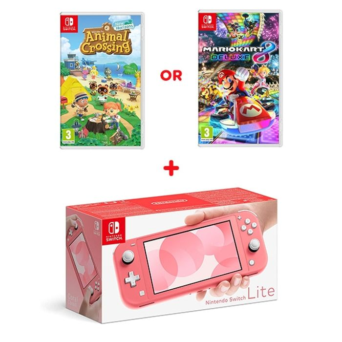 Nintendo Switch Lite Coral & Select Game Only £239.99