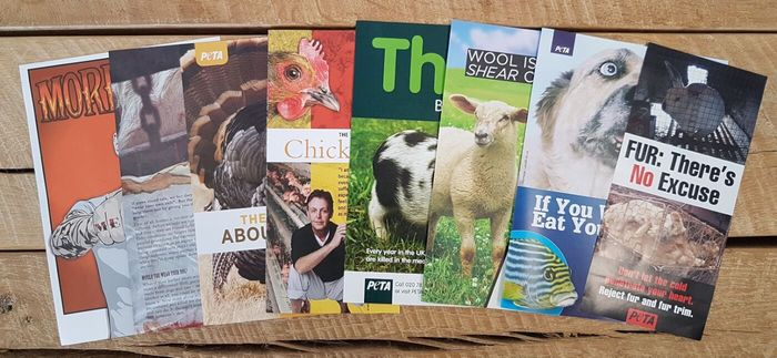 Free PETA Leaflets and Stickers
