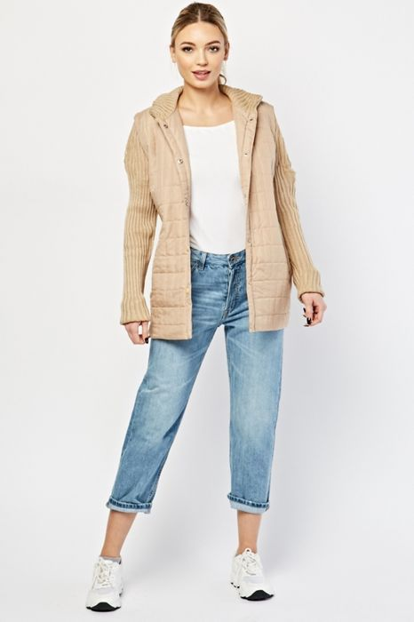 Knitted Sleeve Contrast Jacket £2.50!