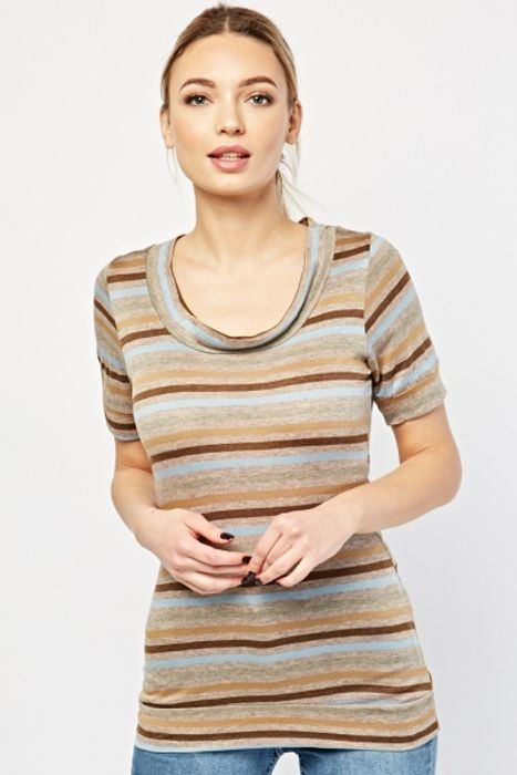Horizontal Stripe T-Shirt for £1!