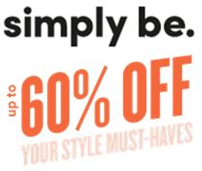 Special Offer - SIMPLY BE - Up to 60% OFF Promo - PLUS SIZE & CURVE