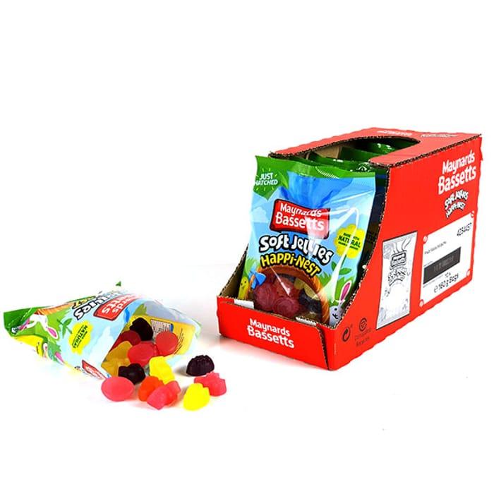 10 X Maynards Bassetts Soft Jellies Happi-Nest 160g Packs