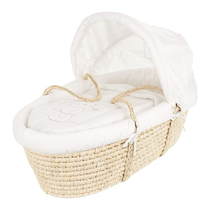 Cheap Obaby B is for Bear Moses Basket-White Only £49.99